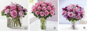 Lavender and purple roses in a chic clear vase make the Graceful Lavender Bouquet a beautiful gift at any time.  Give your family and friends the royal treatment with a Passion for Purple Roses bouquet.  This Shades of Purple bouquet can brighten just about anyone's day.